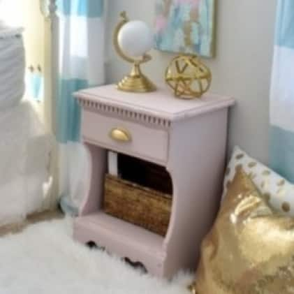 Adds the perfect touch to bedside tables and dressers