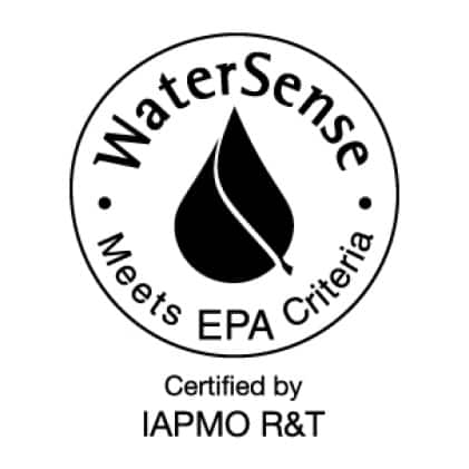 Certified to be more water and energy-efficient