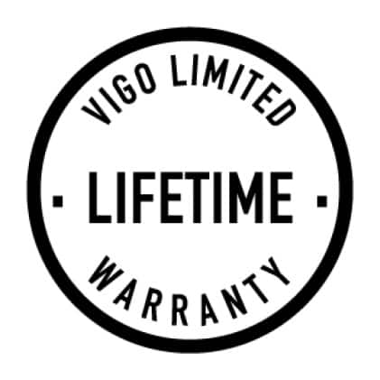 All VIGO vessel sink faucets are backed by a Limited Lifetime Warranty