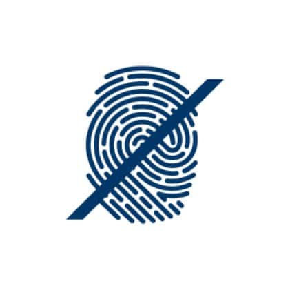 Fingerprint-resistant icon
