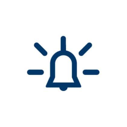 Built-in alarm icon