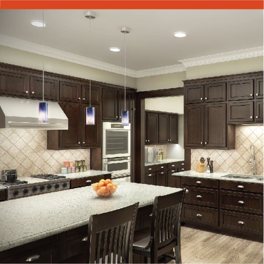 At 90 CRI, the colors and finishes in your home will shine.