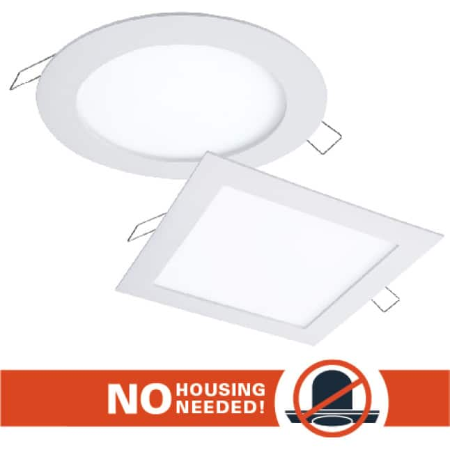 HALO SMD-DM installs directly into the ceiling with no junction box or housing required.