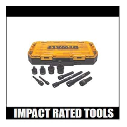 DWMT74741 3/8 in. and 1/2 in. Drive Impact Accessory Set (10-Piece)