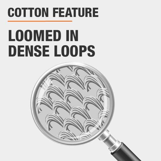 loomed in dense loops