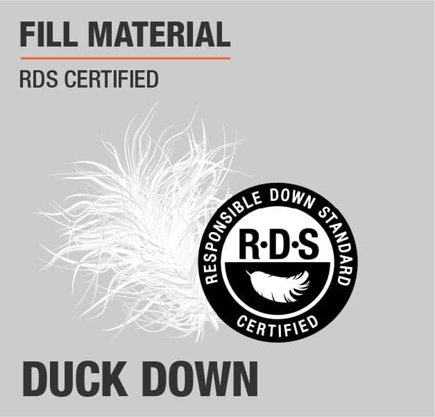 Fill Material Duck Down RDS Cerified