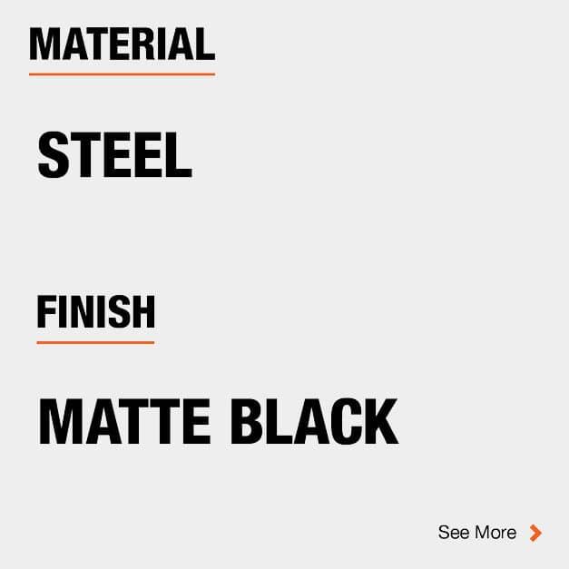 Door Hinge Steel Material and Matte Black finish
