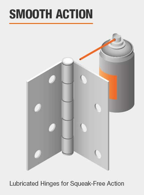 Door Hinge Smooth Action feature Lubricated Hinges for Squeak-Free Action