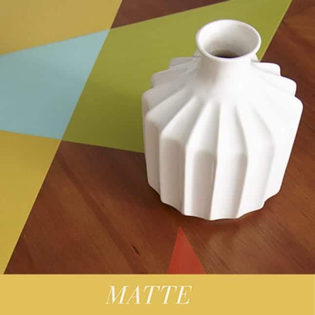 BEHR Chalk Decorative Paint without wax sealer provides a soft, matte finish