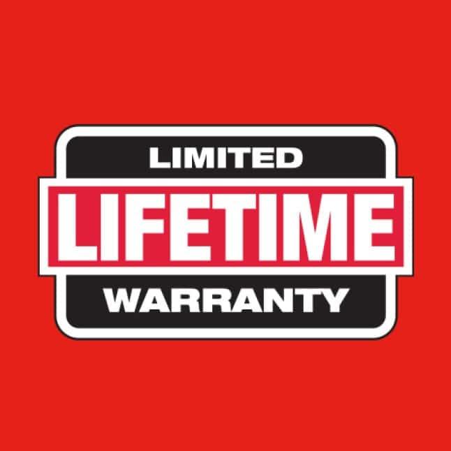 Iron Conduit Bender has a limited lifetime warranty