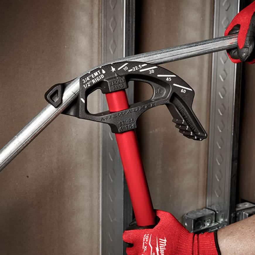 EMT conduit bender available with iron or aluminum shoes