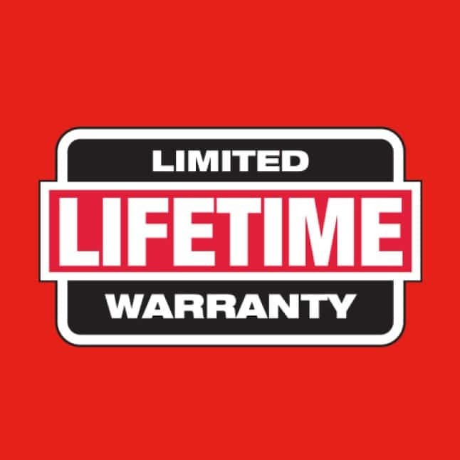 Aluminum Conduit Bender has a limited lifetime warranty