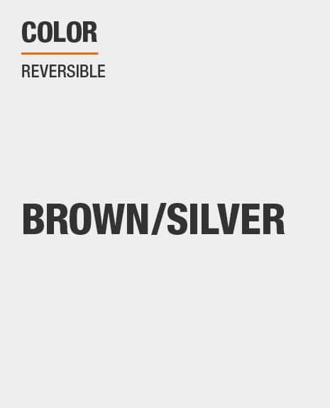 brown/silver reversible tarp