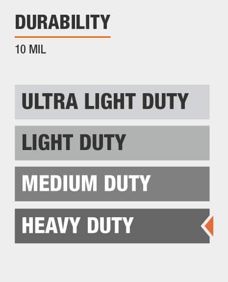 10 mil thick heavy duty tarp