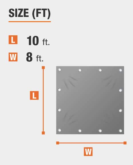 8 x 10 tarp that covers 80