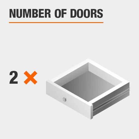 3 Door Nightstand