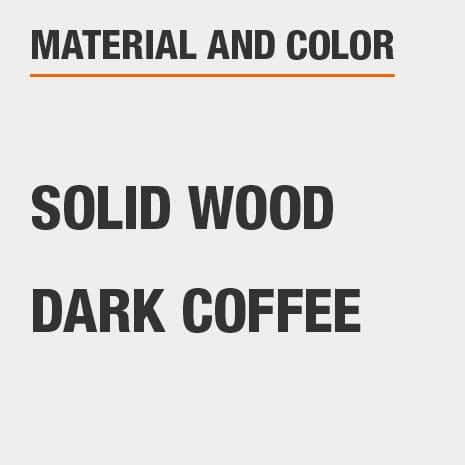 Solid Wood Dark Coffee Nightstand