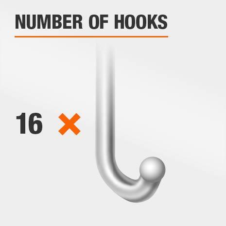 16 Hook Jewelry Mirror
