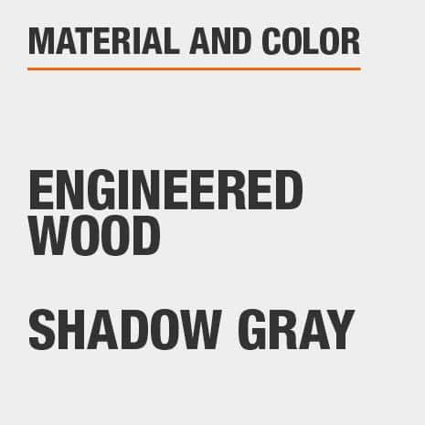 Engineered Wood Shadow Gray Oversized Nightstand