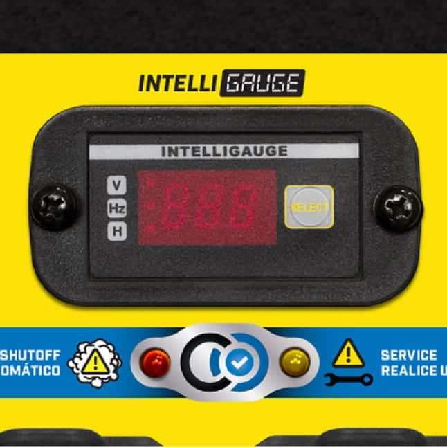 Closeup image of Intelligauge with Power Meter