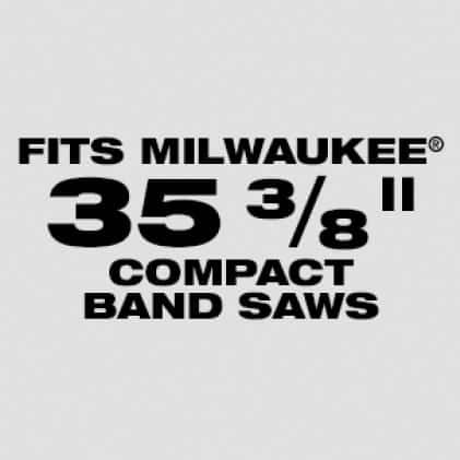 "Wil fit Milwaukee 35-3/8"" Compact Band Saw Blades: Available in 10, 14, 18, 24 TPI"