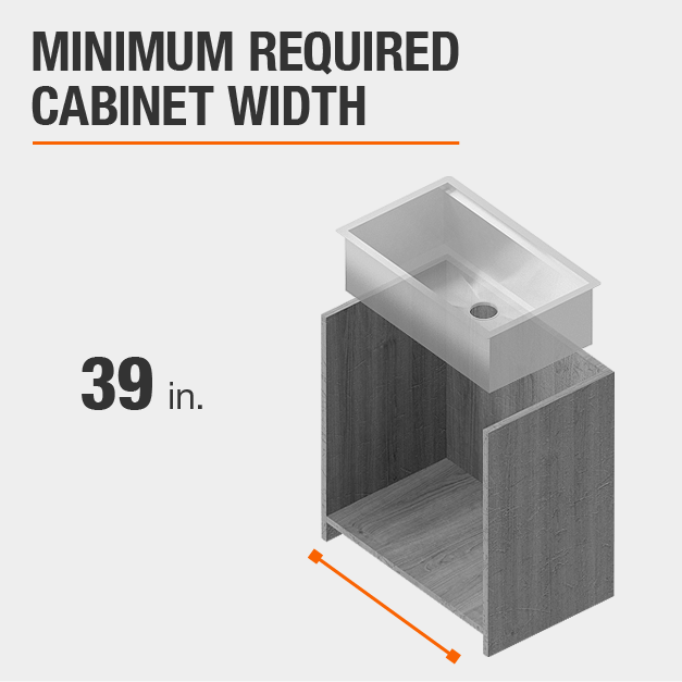 Minimum Required Cabinet Width 39 inches