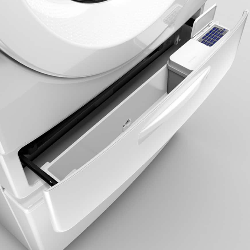 Skip adding detergent to every load with the Load & Go dispenser.