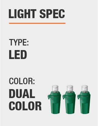 The light type is LED and Dual Color