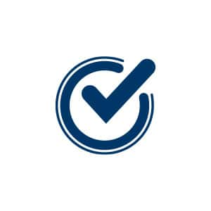 Lifetime guarantee checkmark icon.