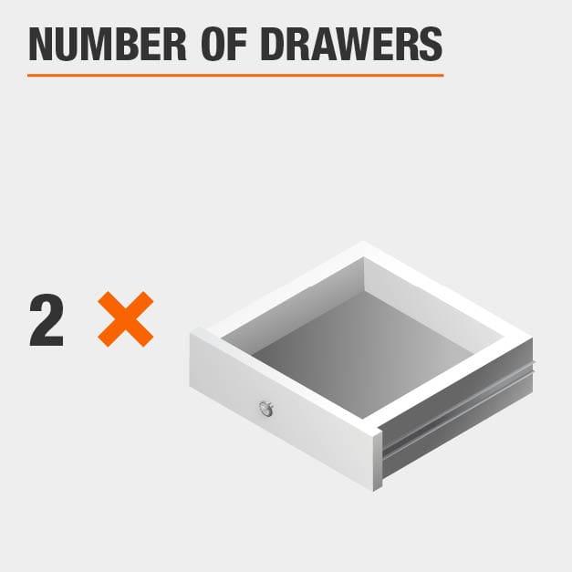 2 Drawer Vanity Table