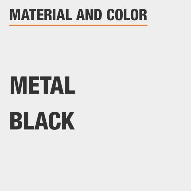 Metal Full Bed with Metal material and Black color.