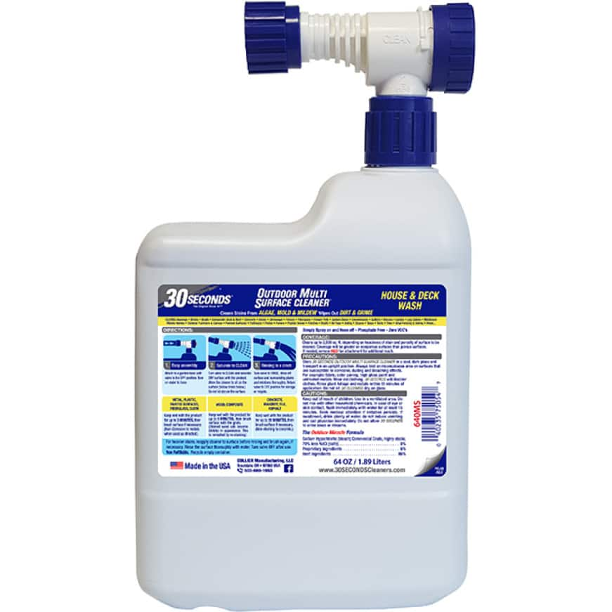 30 SECONDS Outdoor Multi Surface Cleaner Ready-To-Spray perfect to prep for paint, stain, or varnish