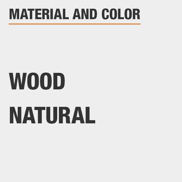 Wood King Bed with Wood material and Natural color.
