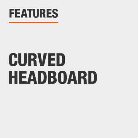 Queen Headboard with Curved Headboard