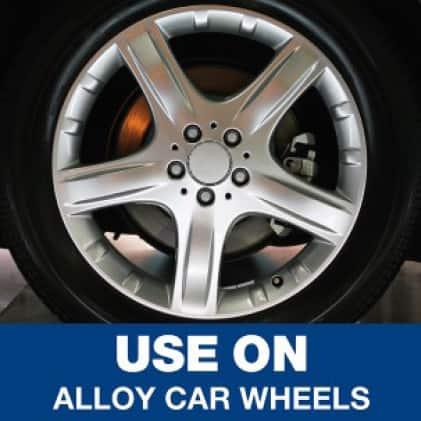 Use Mr. Clean magic erasers on alloy car wheels