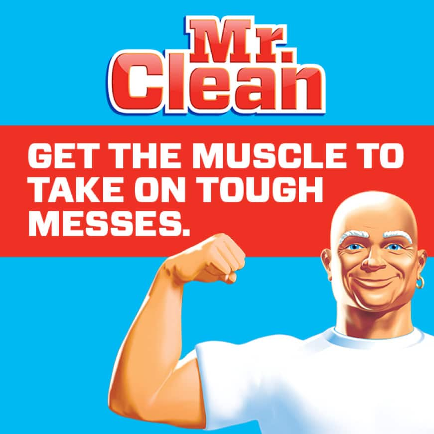 Mr. Clean has the muscle to take on tough messes