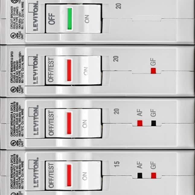 LED lights indicate trip type (AF, GF, Dual Function)