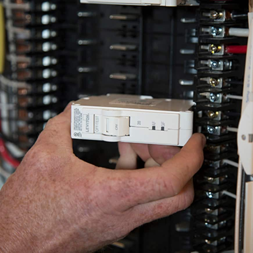 Wire the entire panel at rough-in, without circuit breakers installed