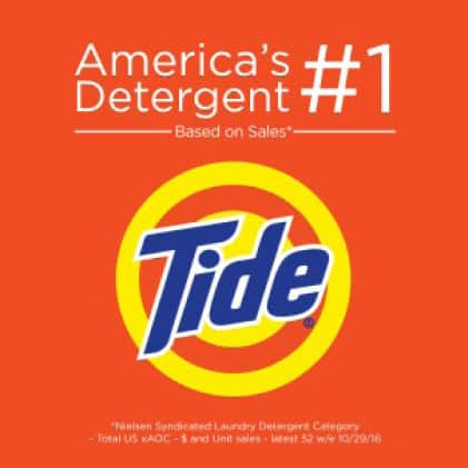 Tide is America's number 1 detergent based on sales