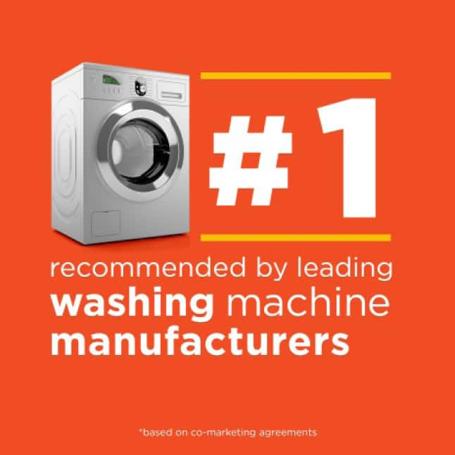 Tide is the number one brand recommended by leading washing machine manufacturers
