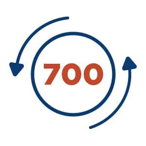 700 RPM symbol