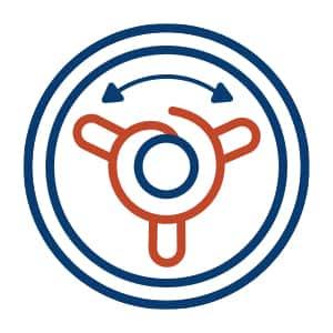 Dual Action Agitator Symbol