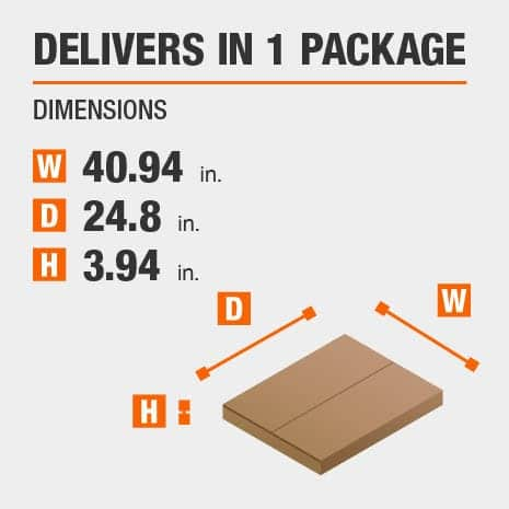 Delivers in 1 Package with the Dimensions of 62.99 inches wide, 24.8 inches deep, 3.94 inches high.