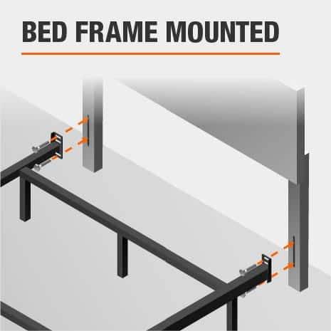 Bed Frame Mounted Queen Headboard