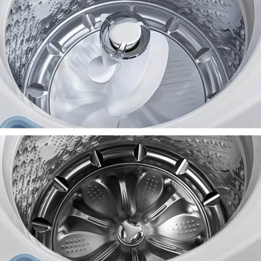 Your choice agitator or impeller washer