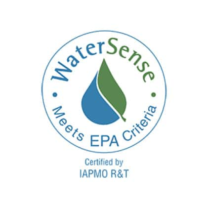 This faucet meets WaterSense criteria for water efficiency without sacrificing water pressure or overall performance.