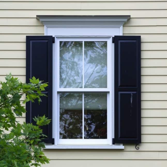 Shutter With Navy Blue Color