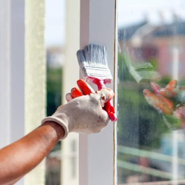 White Paint Color On Metal Window Trim