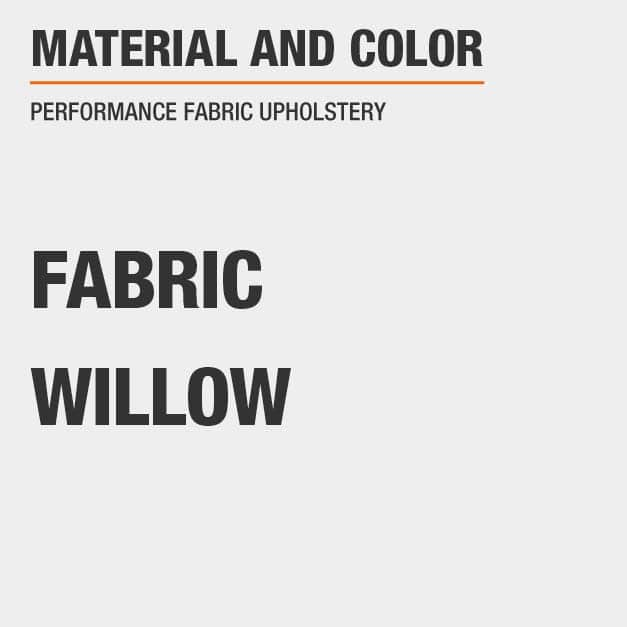 Fabric Queen Bed with Fabric material and Willow   color with Performance Fabric Upholstery