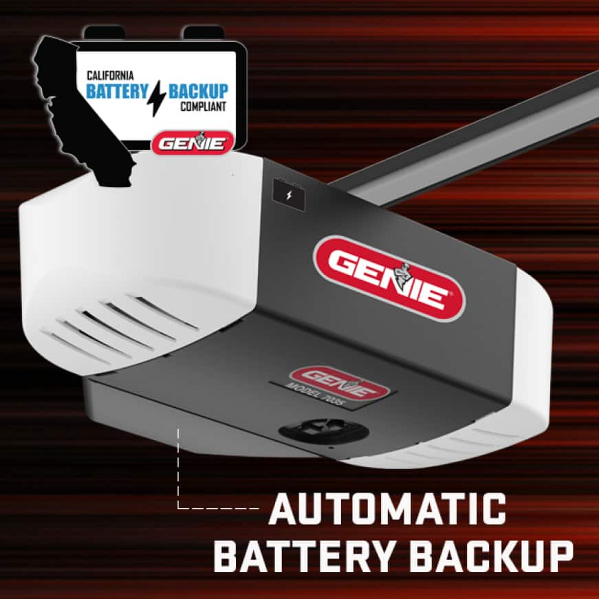 Genie ChainMax w/ Battery Backup - Slim Profile and Two Light Design